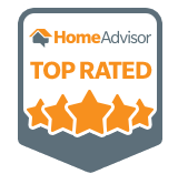 Top Rated service provider distinction from HomeAdvisor